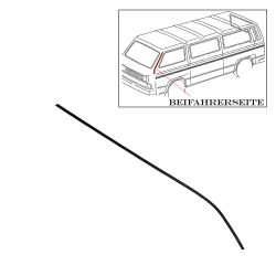 VW Bus T2 T3 Keder für A-Säule Beifahrerseite schwarz