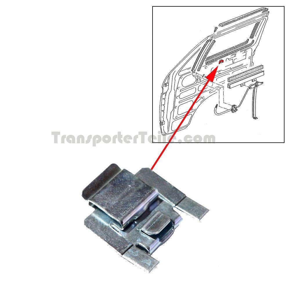 vw bus t2 t3 klammer f r t rschachtdichtung 171837485. Black Bedroom Furniture Sets. Home Design Ideas