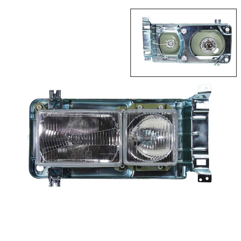 2559411 Rechteckscheinwerfer komplett mit Tragrahmen Rechts und Links T3 OE Ref